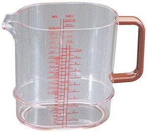 スタッキング メジャーカップ ポリカーボネイト 2,000cc BMZ-10[関連:業務用 水マス 計量器 計量カップ 食器洗浄機対応 電子レンジ対応]