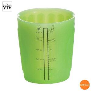 ViV ヴィヴ シリコンメジャーカップ M 59968 グリーン 250cc BMZ-49[関連:VIV シリコン 水マス 計量カップ 電子レンジ対応 食器洗浄機対応]