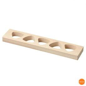 朴 おにぎり抜型 5穴 BON-62[関連:ヤマコー 用美 業務用 物相型 木製 おむすび 抜き型 押し型 枠]