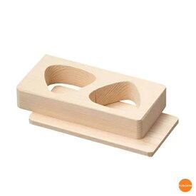 朴 おにぎり抜型 敷板付 2穴 BON-61[関連:ヤマコー 用美 業務用 物相型 木製 おむすび 抜き型 押し型 枠]