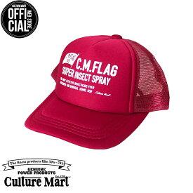 CULTURE MART(カルチャーマート) プリントメッシュキャップKID'S MESH CAP PRINT / RED×RED (C.M.FLAG)帽子 デニム キャップ メンズ レディースアメリカ雑貨 アメカジ アメリカン