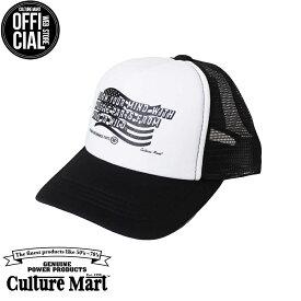 CULTURE MART(カルチャーマート) プリントメッシュキャップKID'S MESH CAP PRINT / WHITE×BLACK (WILD)帽子 デニム キャップ メンズ レディースアメリカ雑貨 アメカジ アメリカン
