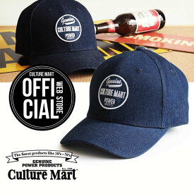 CULTURE MART(カルチャーマート) デニムキャップDENIM CAP / デニム×ネイビー(POWER)帽子 デニム キャップ メンズ レディースアメリカ雑貨 アメカジ アメリカン