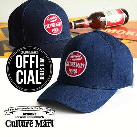 CULTURE MART(カルチャーマート) デニムキャップDENIM CAP / デニム×レッド(POWER)帽子 デニム キャップ メンズ レディースアメリカ雑貨 アメカジ アメリカン