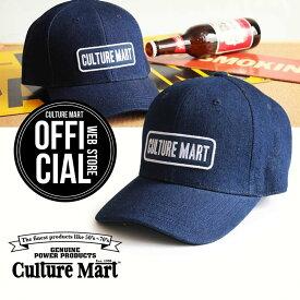 CULTURE MART(カルチャーマート) デニムキャップDENIM CAP / デニム×ネイビー(CULTURE MART)帽子 デニム キャップ メンズ レディースアメリカ雑貨 アメカジ アメリカン