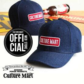 CULTURE MART(カルチャーマート) デニムキャップDENIM CAP / デニム×レッド(CULTURE MART)帽子 デニム キャップ メンズ レディースアメリカ雑貨 アメカジ アメリカン