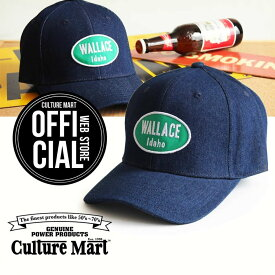 CULTURE MART(カルチャーマート) デニムキャップDENIM CAP / デニム×グリーン(idaho)帽子 デニム キャップ メンズ レディースアメリカ雑貨 アメカジ アメリカン