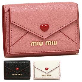 【4時間限定ポイント10倍】【返品OK】ミュウミュウ 折財布 レディース MIU MIU 5MH021 2BC3 マドラスラブ MADRAS LOVE