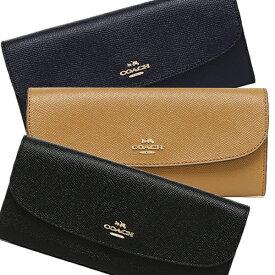 COACH 財布 アウトレット コーチ F59949 クロスグレインレザー ソフトウォレット 長財布