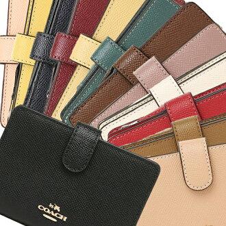 COACH wallet outlet coach F54010 cross grain medium corner zip wallet folio wallet