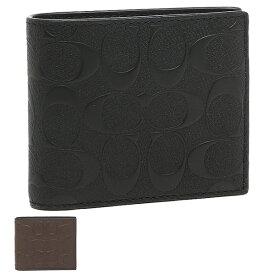【返品OK】コーチ アウトレット 二つ折り財布 シグネチャー メンズ COACH F75371