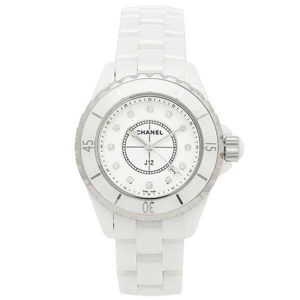 【エントリーでポイント最大19倍】シャネル CHANEL 時計 腕時計 シャネル 腕時計 CHANEL J12 H1628 33MM 12Pダイヤモンド ホワイトセラミック レディースウォッチシリアル有 クリスマスセール