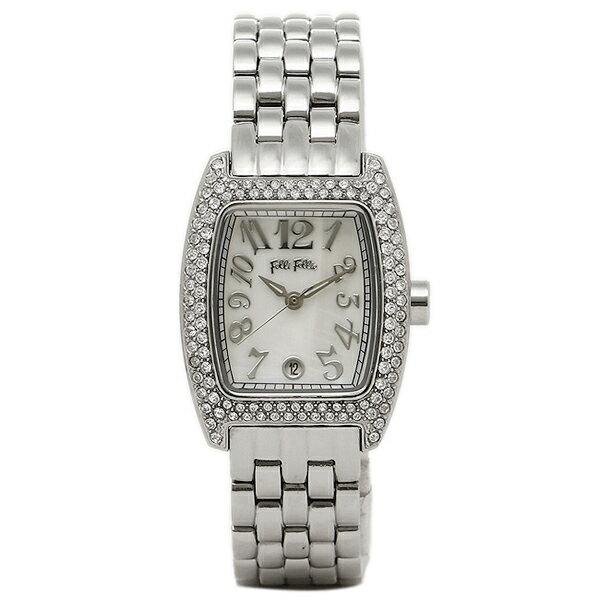 【6時間限定ポイント10倍】フォリフォリ FOLLI FOLLIE 時計 腕時計 フォリフォリ 腕時計 レディース FOLLIFOLLIE WF5T081BZW S922ブレス 時計/ウォッチ ホワイトシェル/シルバー
