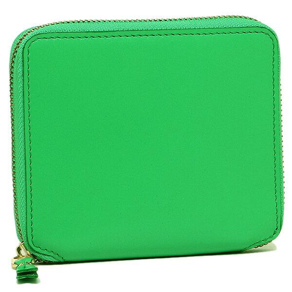 コムデギャルソン 財布 レディース/メンズ COMME des GARCONS SA2100 ラウンドファスナー財布 CLASSIC LEATHER LINE GREEN CdG