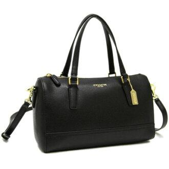 Coach shoulder bags COACH bags coach bags COACH 49392 B4/BK saffiano leather Mini Satchel shoulder bag brass / black