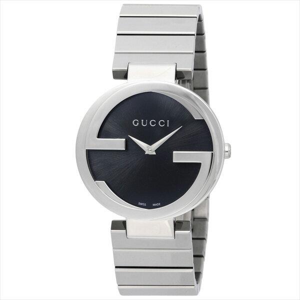 グッチ 時計 レディース GUCCI INTERLOCKING 腕時計 ウォッチ ブラック/シルバー