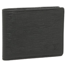 【4時間限定ポイント10倍】ルイヴィトン LOUIS VUITTON 財布 M60662 エピレザー ポルトフォイユ・ミュルティプル 2つ折り財布 ノワール