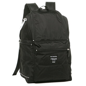 marimekkoryukku BUDDY巴迪MARIMEKKO帆布背包背包026994 999女子的黑色
