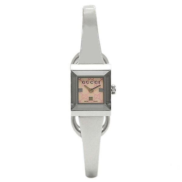 【エントリーでポイント最大19倍】グッチ GUCCI 時計 レディース 腕時計 グッチ 時計 GUCCI YA128516 G-FRAME 腕時計 ウォッチ シルバー/ピンクパール クリスマスセール