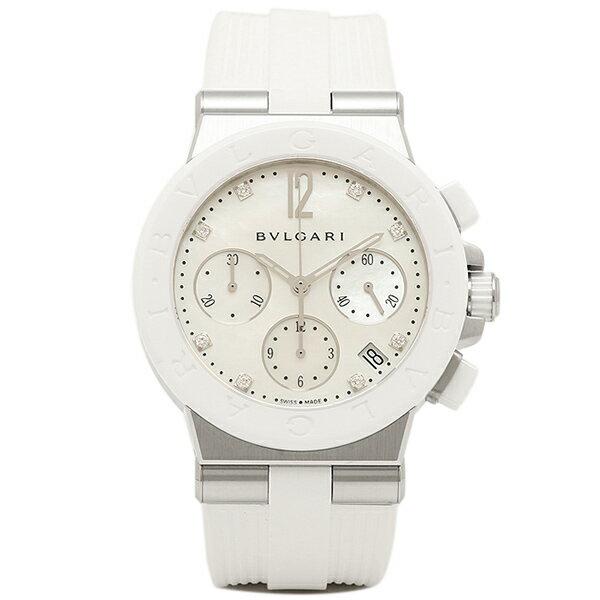ブルガリ BVLGARI 時計 レディース 腕時計 ブルガリ 時計 BVLGARI DG37WSCVDCH/8 ディアゴノ 腕時計 ウォッチ ホワイト/ホワイト