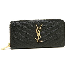 【返品OK】サンローランパリ 財布 SAINT LAURENT PARIS 358094 BOW01 1000 MONOGRAMME YSL ZIP AROUND 長財布 BLACK