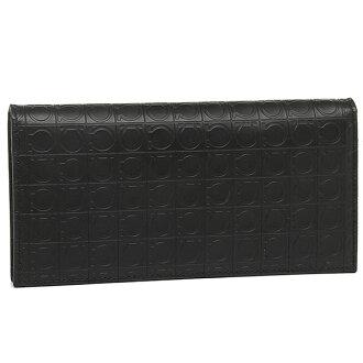 669413 Ferragamo long wallet FERRAGAMO wallet SALVATORE FERRAGAMO folio long wallet men 0568296 DARK RAIN