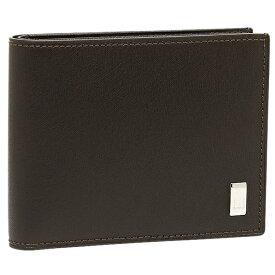 【返品OK】ダンヒル DUNHILL 財布 メンズ DUNHILL ダンヒル FP3070E 2つ折り財布 サイドカー ダークブラウン