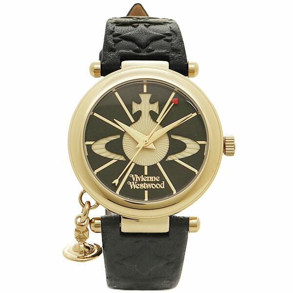 【30時間限定ポイント5倍】ヴィヴィアン 腕時計 ヴィヴィアンウエストウッド VV006BKGD ブラックゴールド