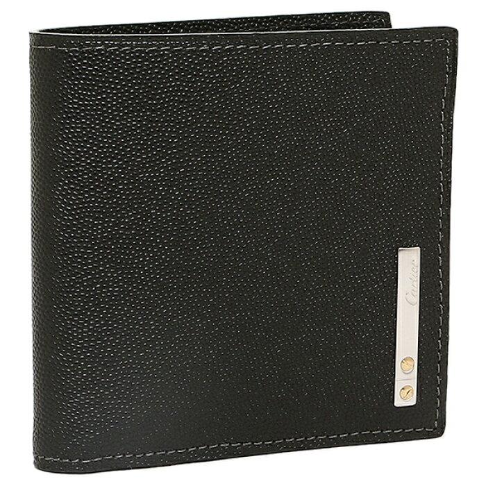 check out c93a7 ae9fa カルティエ Cartier 財布 レディース Cartier カルティエ L3000772 サントスライン 2つ折り財布 ブラック|ブランドショップ  AXES