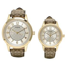 【返品OK】コーチ ペアウォッチ 時計 メンズ/レディース COACH 14000043 ニュークラシックシグネチャー 腕時計 ウォッチ カーキ/ゴールド