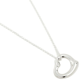 Tiffany TIFFANY & Co. Necklace Tiffany necklace TIFFANY&Co. 10660092 Small open heart pendant SS SM 16IN pendant silver