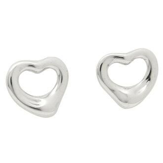 Tiffany TIFFANY & Co. Pierced earrings Tiffany pierced earrings TIFFANY&Co. 12270062 open heart SS MINI silver