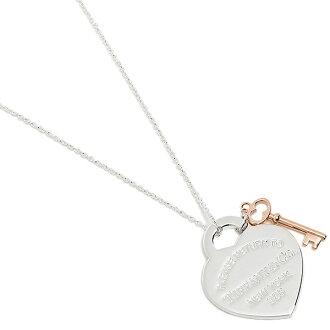 Tiffany TIFFANY & Co. Necklace Tiffany necklace TIFFANY&Co. 30971531 return toe Tiffany medium RTT return toe heart key pendant SS/RUBEDO pink gold