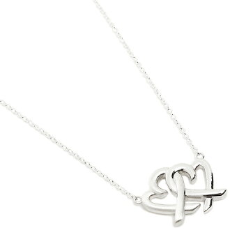 Tiffany TIFFANY & Co. Necklace Tiffany necklace TIFFANY&Co. 32080324 ラビングハートインターロッキングペンダント 18in pendant silver