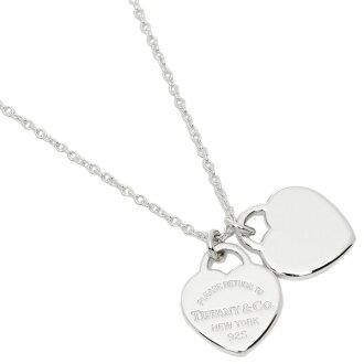 Tiffany TIFFANY & Co. Necklace Tiffany necklace silver TIFFANY&Co. 22309307 return toe Tiffany double heart tag mini-pendant
