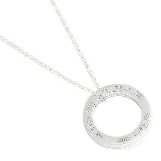 Tiffany TIFFANY & Co. Necklace Tiffany necklace silver TIFFANY&Co. 25049179 1837 circle medium pendant