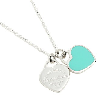 Tiffany TIFFANY & Co. Necklace Tiffany necklace silver TIFFANY&Co. 27125107 mini-double heart tag enamel finish return toe Tiffany double heart pendant