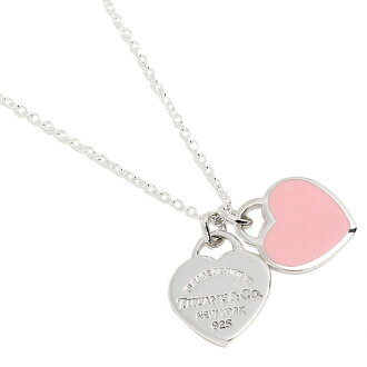 Tiffany necklace TIFFANY&Co. 28751249 mini-double heart tag silver