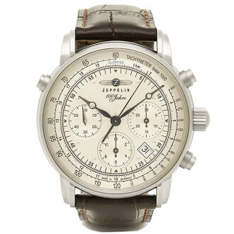 제페린 Zeppelin 시계 손목시계 맨즈 제페린 시계 맨즈 ZEPPELIN 76181-BRN SPECIAL EDITION100YEARS 자동권손목시계 워치 브라운/아이보리