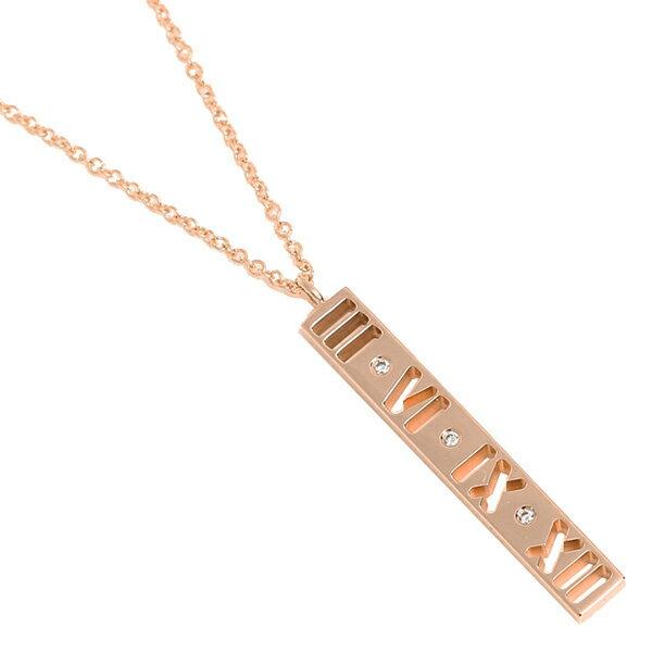 ティファニー TIFFANY & Co. ネックレス アクセサリー ティファニー TIFFANY&Co. 30480538 18K アトラス バー ダイヤモンド 16IN ペンダント ピンクゴールド クリスマスセール