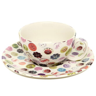 アヴォカ AVOCA アヴォカ 컵/접시 AVOCA 3036 BUTTON CERAMICS CUP&SAUCER BUTTON