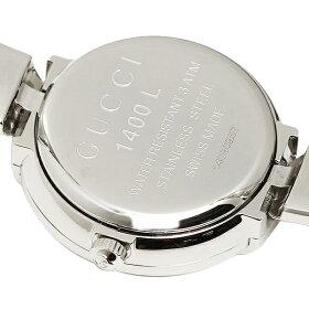 【返品OK】グッチ時計レディース25MMクォーツピンクシルバーGUCCIYA014513
