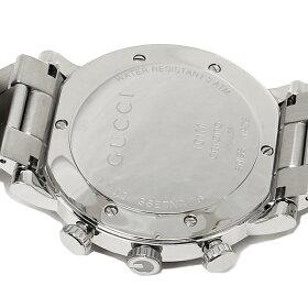 【返品OK】グッチGUCCI時計腕時計グッチ時計メンズ腕時計GUCCIYA101339Gラウンドクロノグラフステンレスホワイト/シルバー