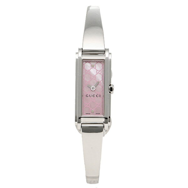 【30時間限定ポイント5倍】グッチ GUCCI 時計 レディース 腕時計 グッチ 時計 GUCCI YA109530 G-LINE Gライン バングルウォッチ ピンクパール/シルバー