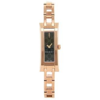 구찌 GUCCI 시계 손목시계 구찌 시계 레이디스 GUCCI G LINK 손목시계 YA110523 워치 블랙/핑크 골드