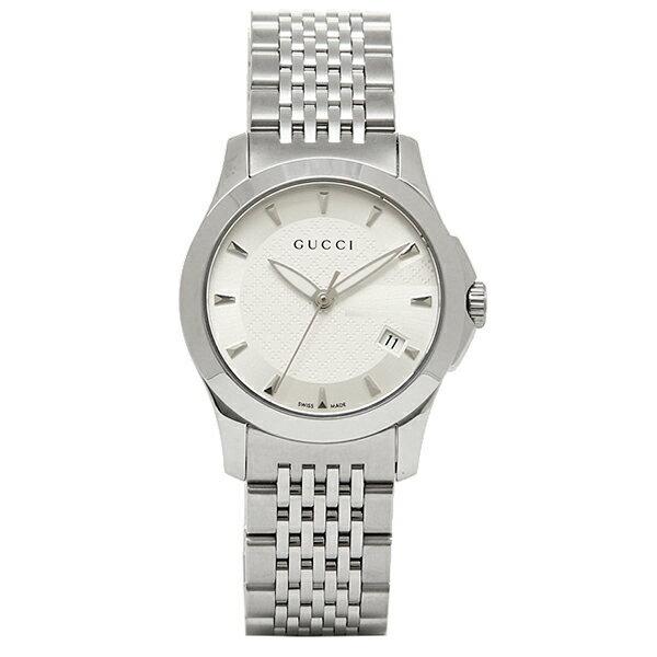 グッチ GUCCI 時計 レディース 腕時計 GUCCI 時計 グッチ YA126501 スモールバージョン Gタイムレス 腕時計ウォッチ シルバー