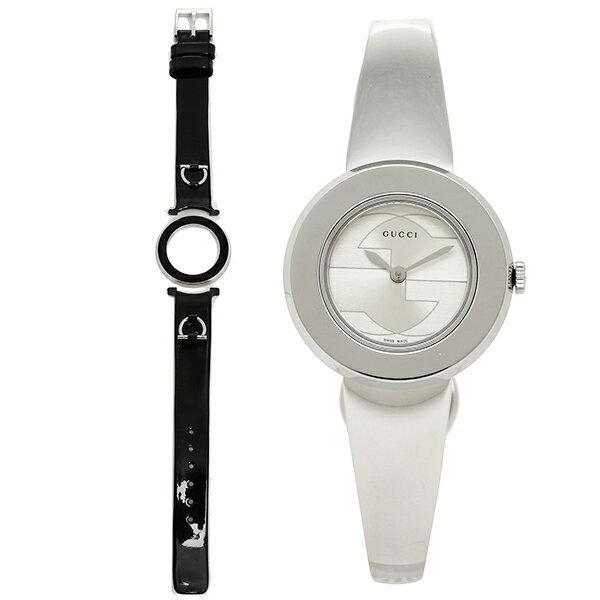 【エントリーでポイント最大19倍】グッチ GUCCI 時計 レディース 腕時計 GUCCI グッチ 時計 YA129502 スモール バージョン Uプレイ 腕時計 替えベゼル/ベルト付きウォッチ シルバー クリスマスセール