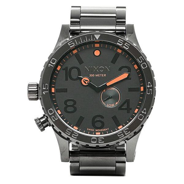 ニクソン NIXON 時計 腕時計 メンズ ニクソン 腕時計 THE 51-30 NIXON A0571235 フィフティーワンサーティ ALL GUNMETAL オールガンメタル TIDE タイド レディース/メンズ ウォッチ スティールグレー