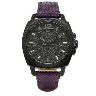 教練教練手錶手錶教練女士迷你教練 14502040 男朋友的男朋友迷你簽名手錶腕表黑色 / 紫色