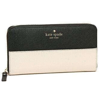케이트 스페이드장 지갑 KATE SPADE PWRU3898 047 레이디스 블랙 베이지